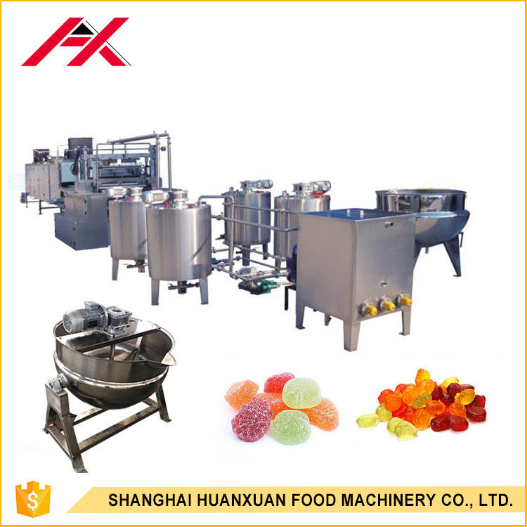 Fully Automatic Candy Machine , Candy Manufacturing Equipment 100-150kg/H Capacity